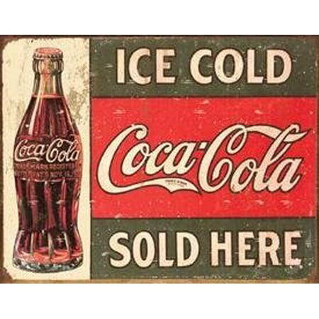 Coca Cola Metal Sign (Desperate Enterprises Vintage Metal Sign -   - Coke - C. 19 16