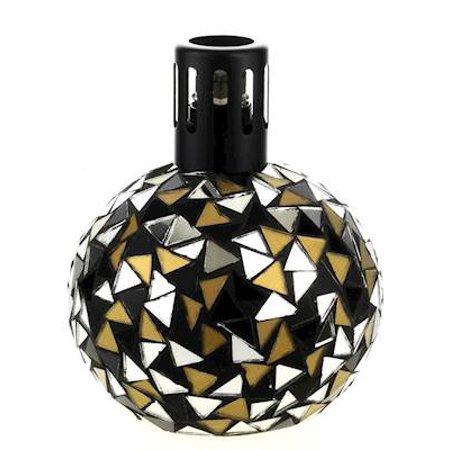 BLACK - GOLD Mosaic Lampair Fragrance Lamp by Millefiori Milano