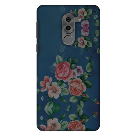 Huawei Honor 6X 2016 Case, Huawei GR5 2017 Case - Rose Print Provencal,Hard Plastic Back Cover, Slim Profile Cute Printed Designer Snap on Case with Screen Cleaning Kit