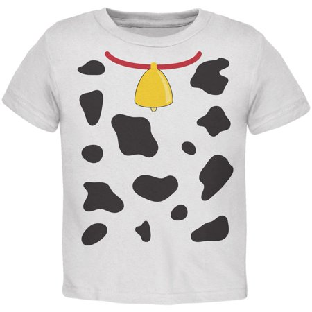 Halloween Cow Costume Toddler T-Shirt - Toddler Cow Halloween Costumes