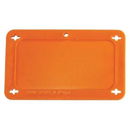 BRADY 87694 Blank Tag,1-1/2 x 3 In,Orn,Plstc (Brady Plastic Labels)