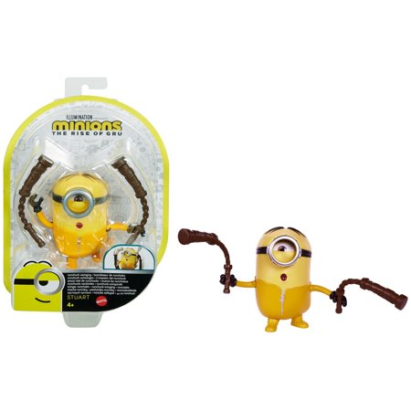 Minions: The Rise of Gru Nunchuk Swinging Stuart Action Figure Toy For Kids 4 Years Old & Up