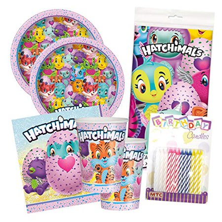 18th Birthday Plates And Napkins (Hatchimals Birthday Party Tableware Deluxe Bundle Plates Napkins Serves)