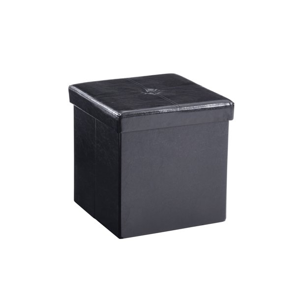 Hodedah Cube Foldable Storage Ottoman, Multiple Colors