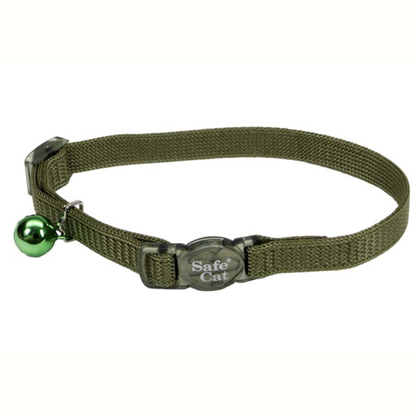 "COASTAL Nylon Adjustable Breakaway Cat Collar Palm Green 3 8"" x 8""-12"" by COA"