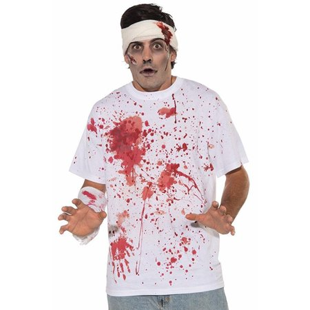 Forum Novelties Halloween Men's Bloody Costume Shirt - One Size