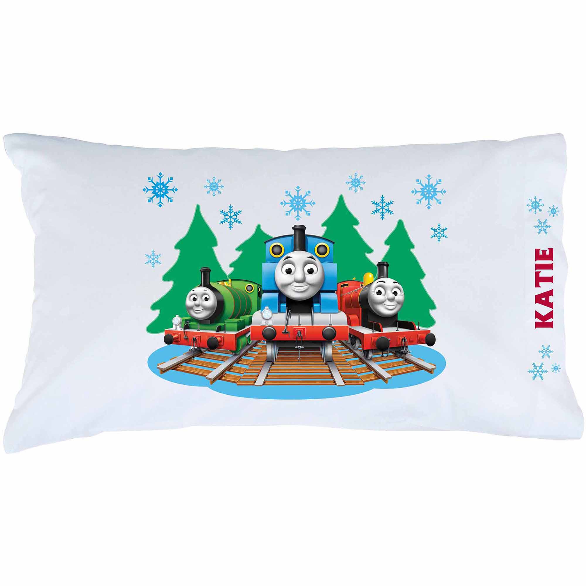 Personalized Thomas & Friends Snowfall Pillowcase