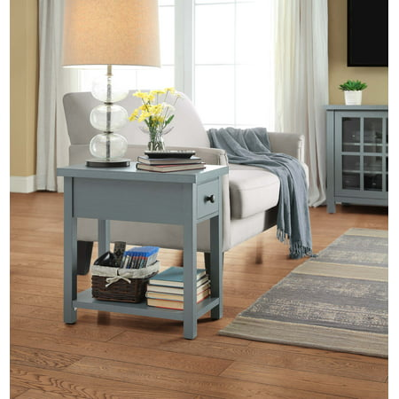 Better Homes And Gardens Oxford Square End Table With Drawer Available In Blue Or Red Best