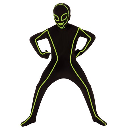 Argos Alien Halloween Costume (Boy Glow in Dark Alien Bodysuit Medium Halloween Dress Up / Role Play)