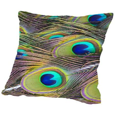 Bird Pattern Throw Pillow : Americanflat Peacock Bird Pattern Feather Throw Pillow - Walmart.com