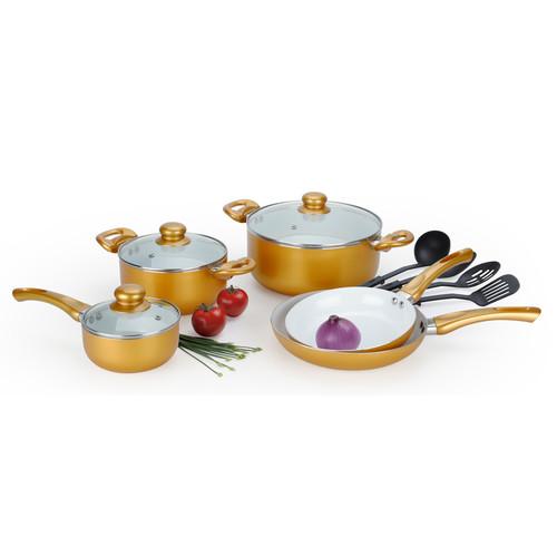 Alpine Cuisine 12 Piece Non-Stick Cookware Set by