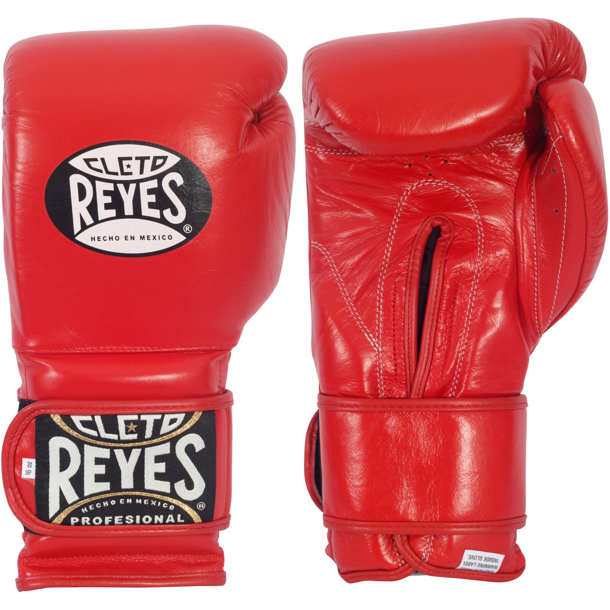 Cleto Reyes Hook and Loop Boxing Gloves, 16oz, Red