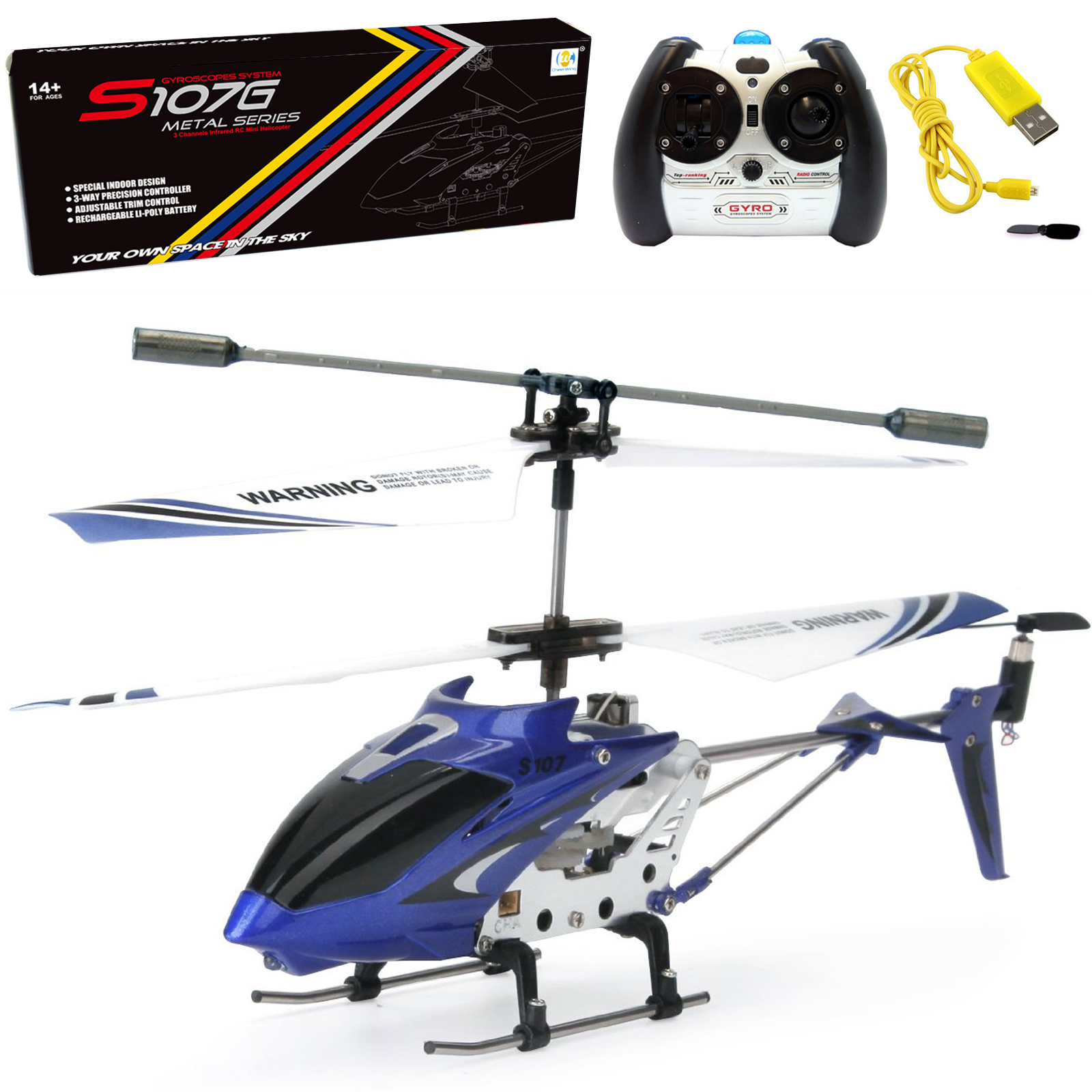 Cheerwing Syma S107/S107G Phantom 3CH 3.5 Channel Mini RC Helicopter with Gyro