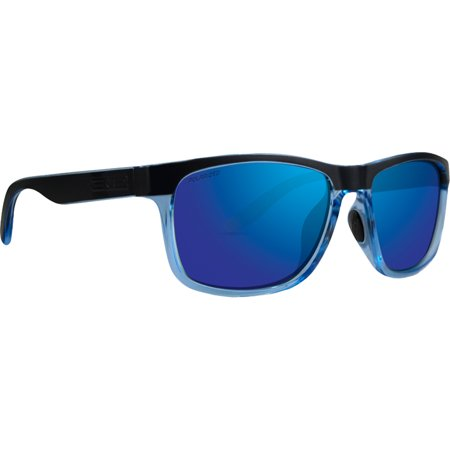Epoch Delta 2.0 Sport Fashion Motorcycle Riding Sunglasses Blue Crystal with Blue Mirror Polarized (Del Ray Sunglasses)