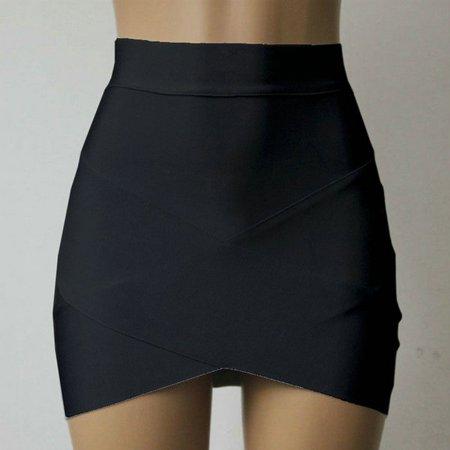 - OUMY Women's Asymmetrical Hem Mini Wrap Skirt