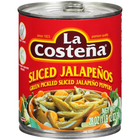La Costena  Green Pickled Sliced Jalapeno Peppers  28 Oz