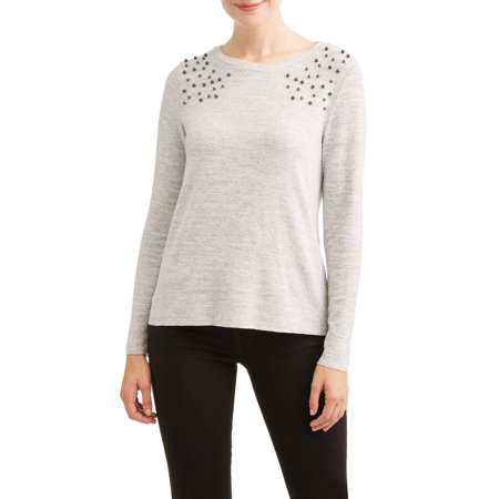 Lifestyle Attitude Women's Pearl Detail Sweater (Mugatu Sweater)