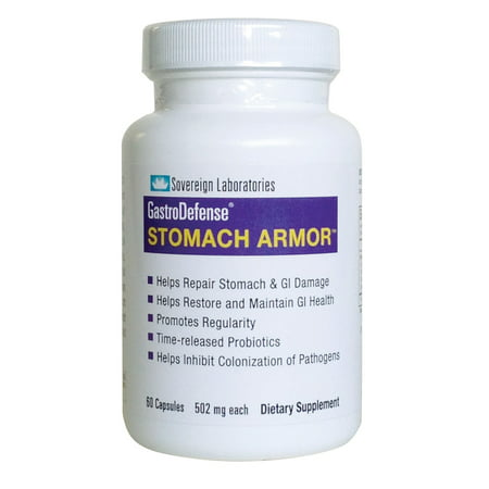 GastroDefense Stomach Armor : Boost bowel and immune system health. Proprietary formula that Increases nutrient absorption and eliminate harmful pathogens. 60 capsules /w 502mg Aloe Stomach Plus Formula