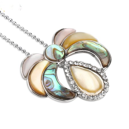 New Zealand Abalone Paua Pink Shell Natural Necklaces Pendants Crystal  Mother-Of-Pearl NS-100