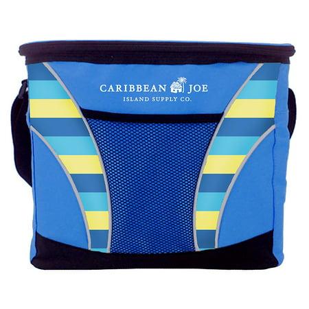 24 Can Caribbean Joe cooler with mesh pocket and shoulder strap