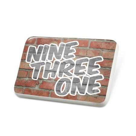 Porcelein Pin 931 Clarksville, TN brick Lapel Badge – NEONBLOND ()