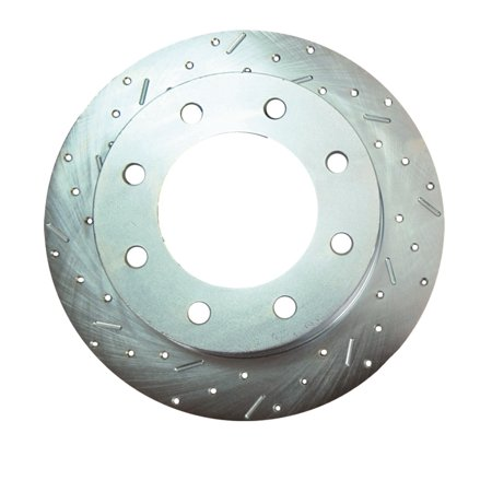 Cross Drilled Performance Brake Rotor (SSBC Performance Brakes 23537AA3L Big Bite Cross Drilled Rotors)