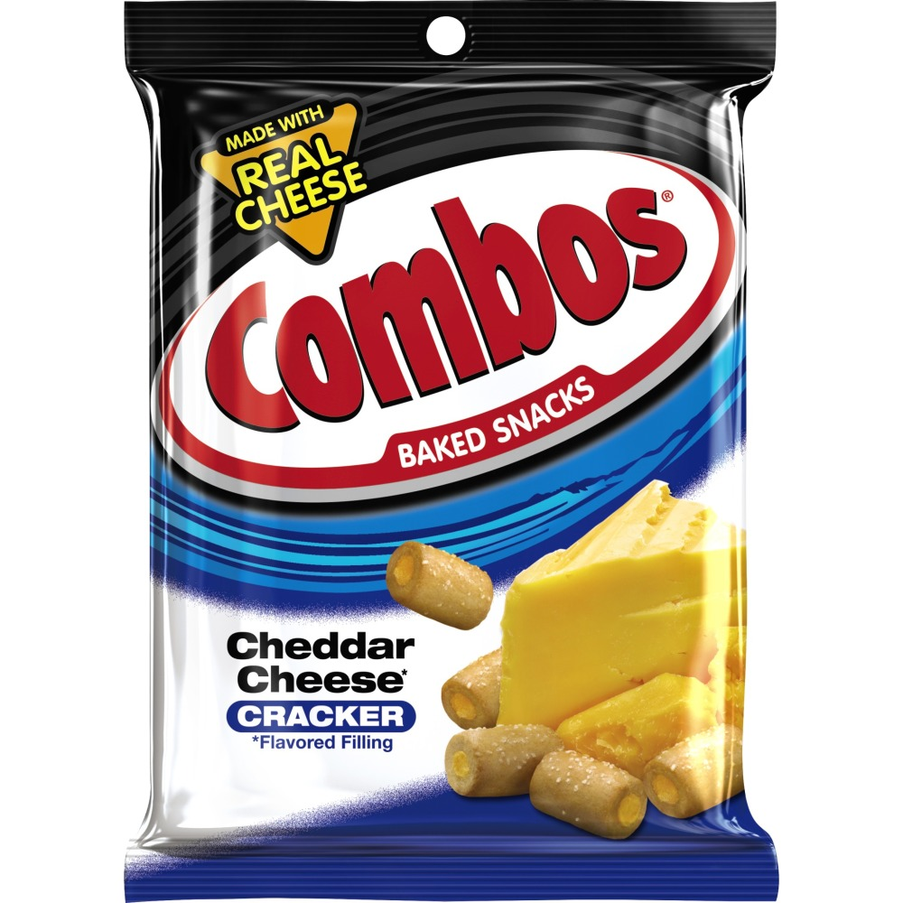 Combos Baked Snacks Cheddar Cheese Cracker, 6.3 OZ