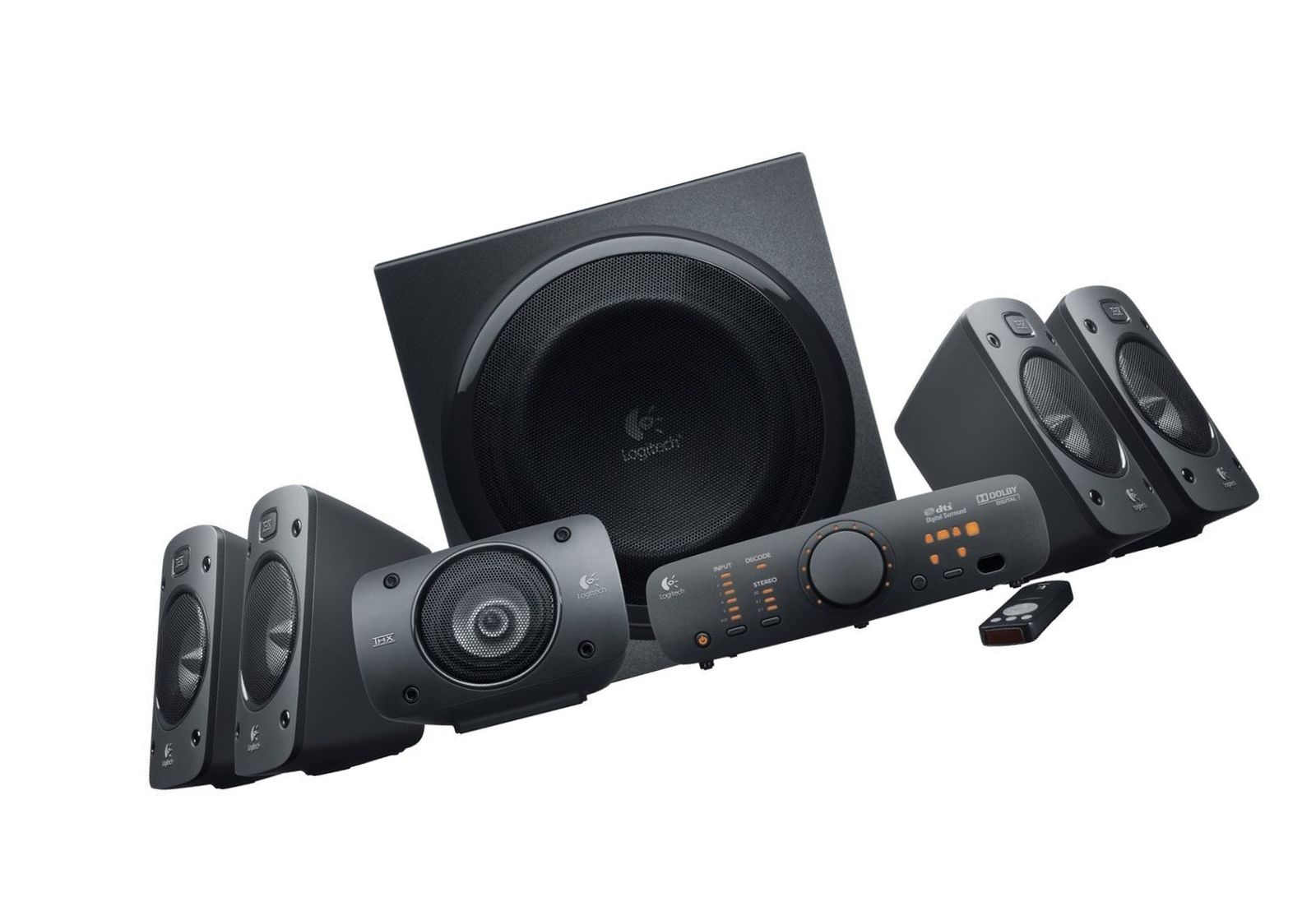Logitech Z906 THX-Certified 5.1 Digital Surround Sound Speaker System 980000467