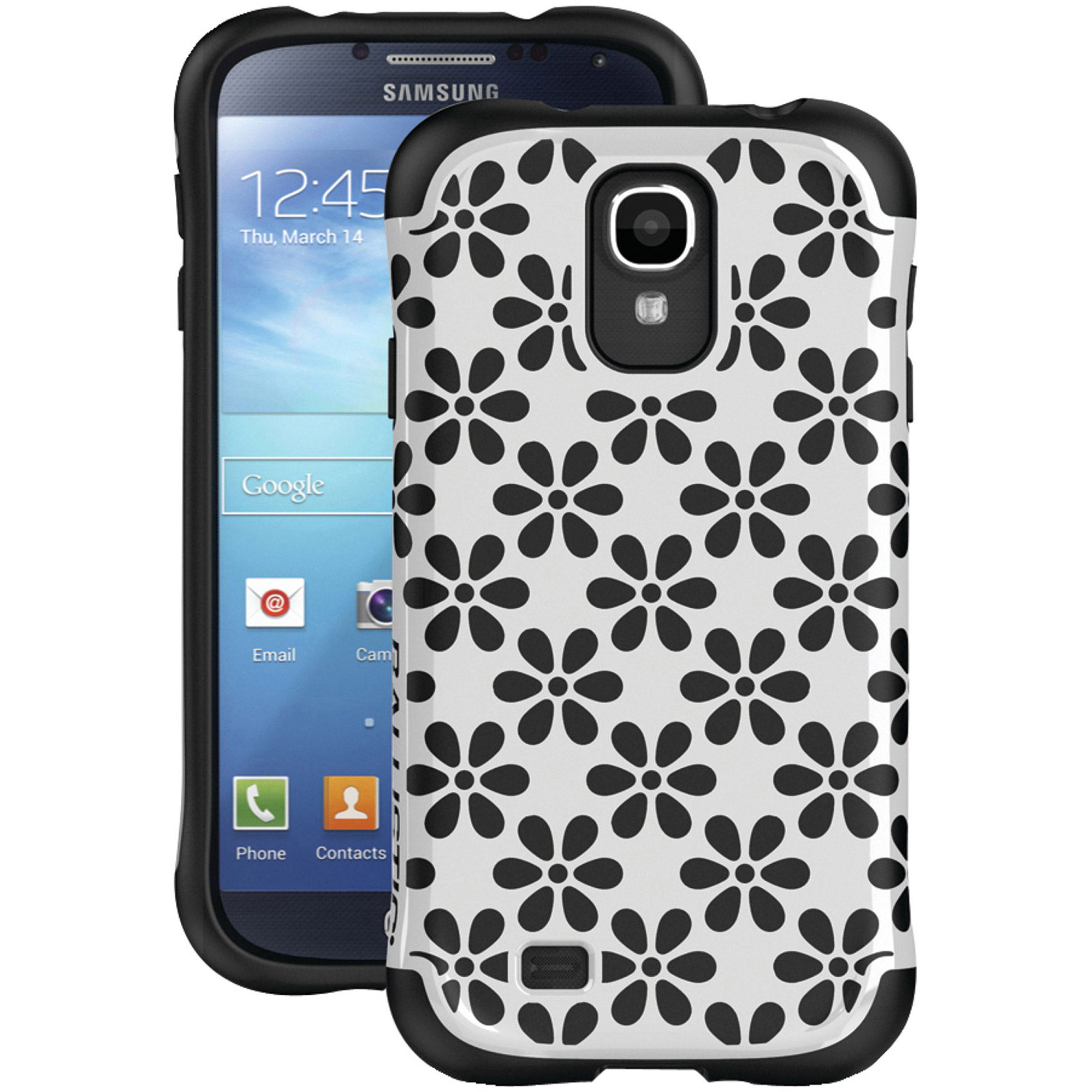BALLISTIC UR1157-A08C Samsung(R) Galaxy S(R) 4 Urbanite(TM) Case (White/Black—Flowers)