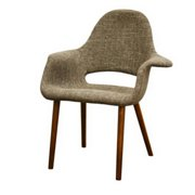 Baxton Studio Forza Brown Mid-Century Style Accent Chair (Set of 2)