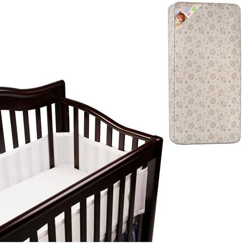 Kolkraft mattress with Breathable Baby Crib Liner Value Bundle