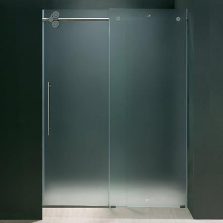 Vigo Elan 60 Inch Frameless Shower Door 375 In Frosted Glass