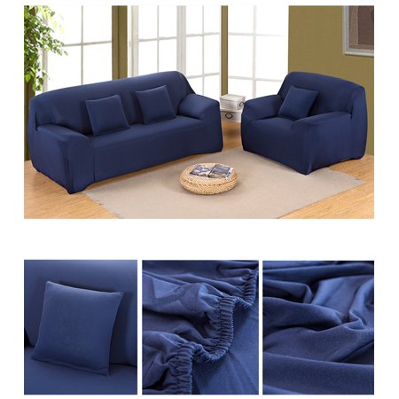 Hilitand 7 Colors Stretch Slipcover Chair Loveseat Sofa Couch Protect Elastic Cover 1 2 3 4 Seater
