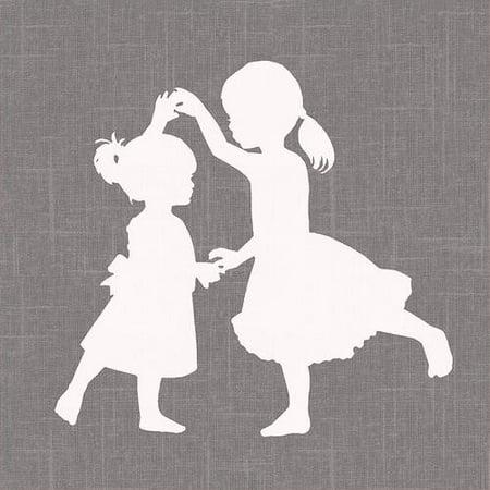 - Oopsy Daisy - Sisters Dance Simple Canvas Wall Art 10x10, Patti Rishforth