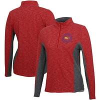 Women's Red Kansas Jayhawks Tech Seal V2 Half-Zip Pullover Jacket