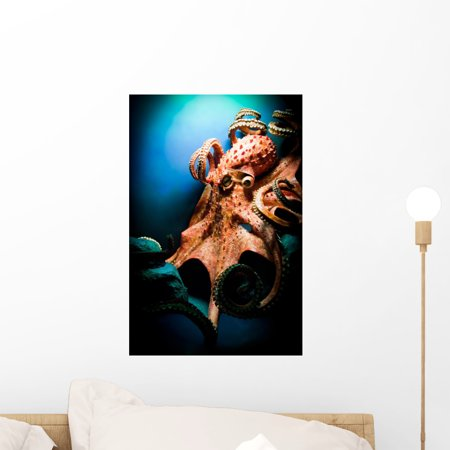 Giant Octopus Wall Mural by Wallmonkeys Peel and Stick Graphic 18 in H