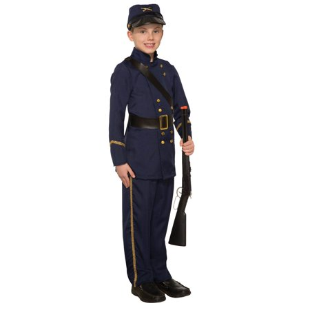 Boys Civil War Soldier Halloween Costume (Civil War Dress Costume)