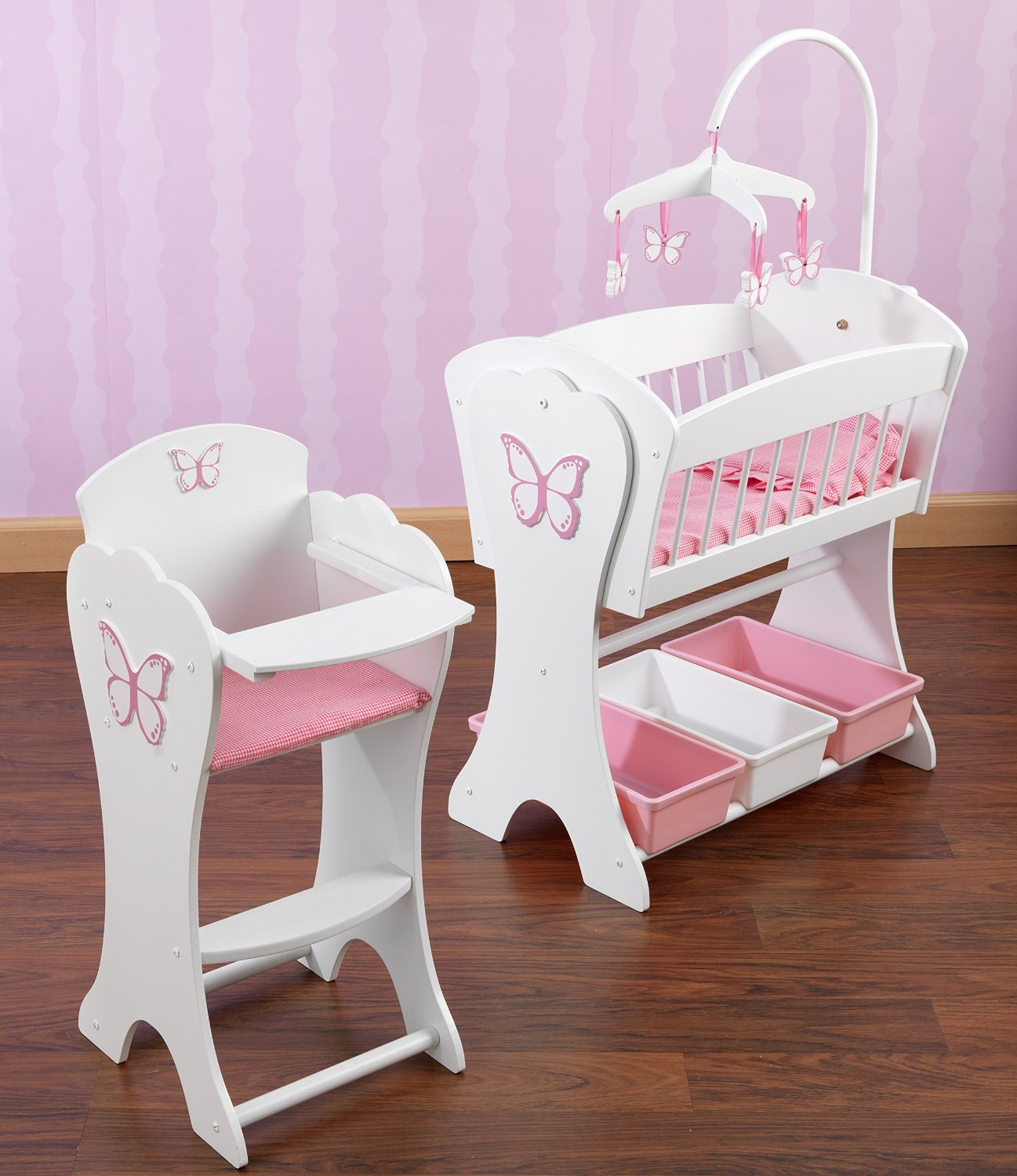KidKraft Pretty Pink Butterfly Doll Furniture Set by