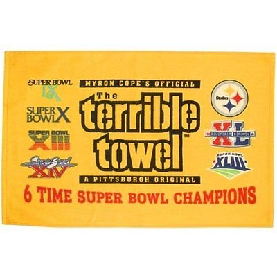 Pittsburgh Steelers Terrible Towel 6 Time Super Bowl Champions