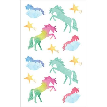 "Mrs. Grossman's Watercolor Stickers 4""X6.5""-Watercolor Unicorns Strips - image 1 de 1"
