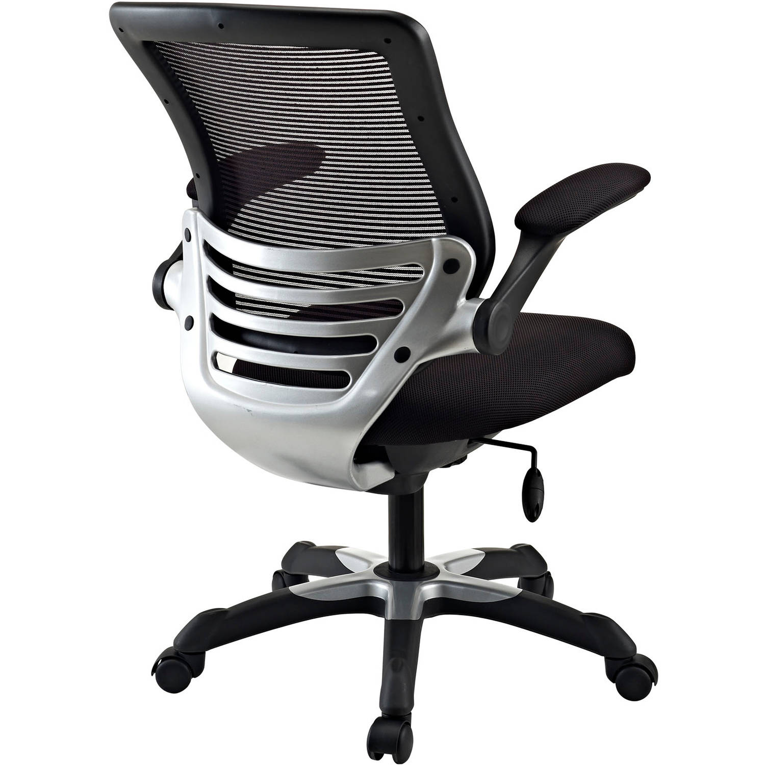 flip back computer mesh swivel mid padded up modway arms office with chair ergonomic and seat black task meofch