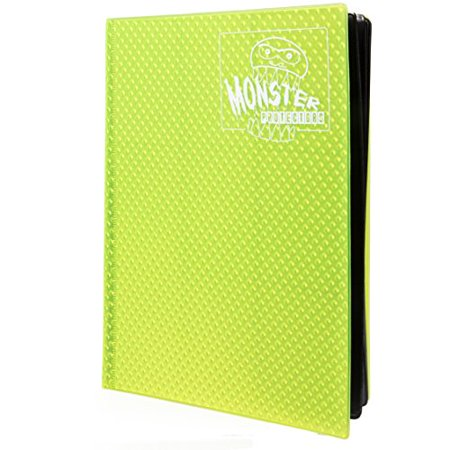 Monster Binder - 9 Pocket Trading Card Album - Holofoil Yellow - Holds 360 Yugioh, Magic, and Pokemon