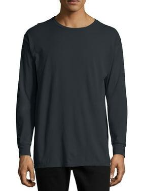 Hanes Men's and Big Men's ComfortWash Long Sleeve Tee, Up To Size 3XL