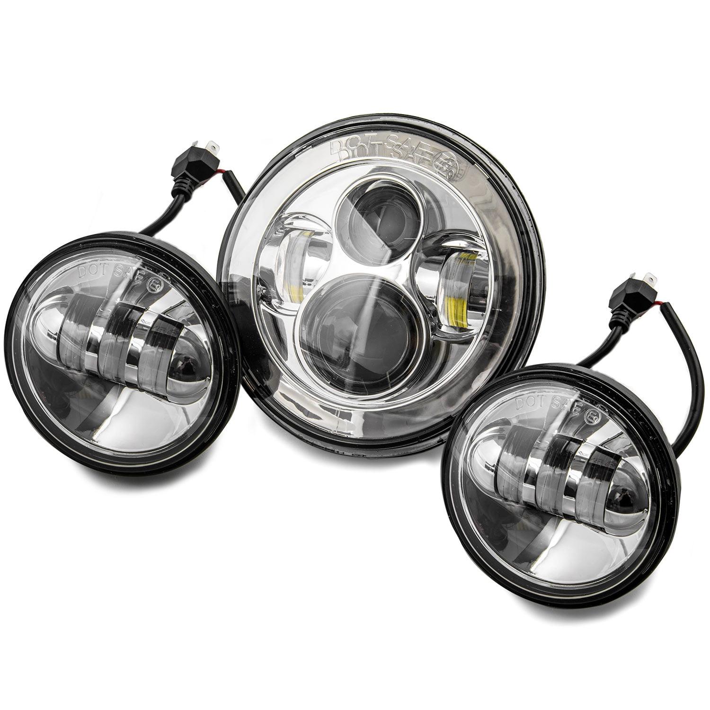 """7"""" LED Projector Daymaker Headlight 4.5"""" Passing Lights Ring Bracket for Harley for Harley Davidson Road King EFI FLHRI 1996-1997 - image 2 of 8"""