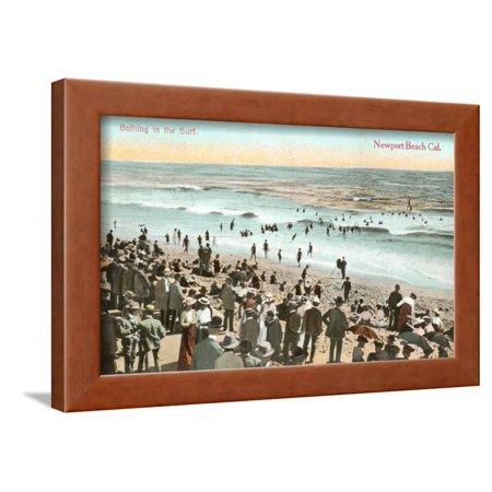 early beach scene newport beach framed print wall art. Black Bedroom Furniture Sets. Home Design Ideas