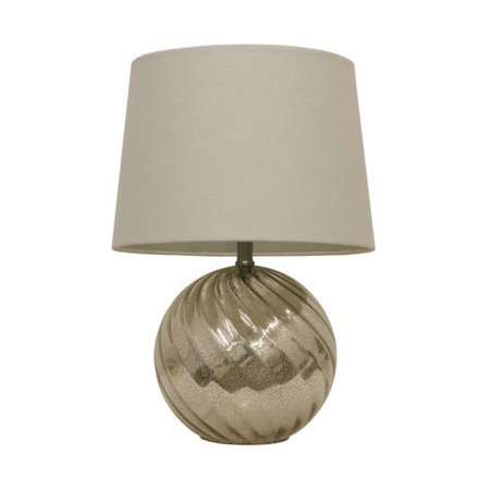 hunt home mercury swirl glass 21 39 39 table lamp with drum shade. Black Bedroom Furniture Sets. Home Design Ideas