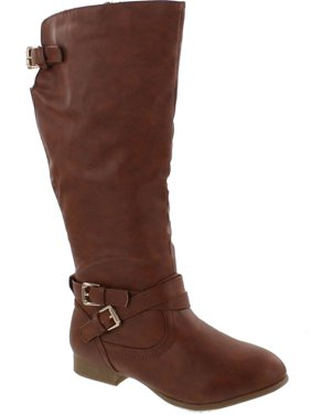 719bf0e163c14 Product Image Top Moda COCO-3 Women's Knee High Buckle Riding Boots
