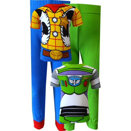 9b39b2d908 Toy Story - Buzz Lightyear and Woody Combo Pajamas - Walmart.com