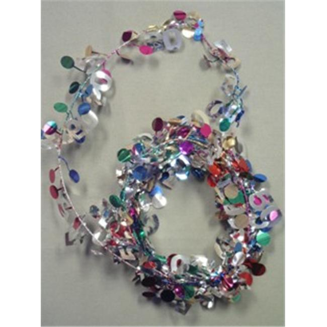 Party Deco 9 ft.  Birthday Wire Garland - Pack of 12