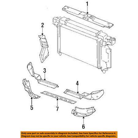 CHRYSLER OEM Radiator Core Support-Lower Tie Bar